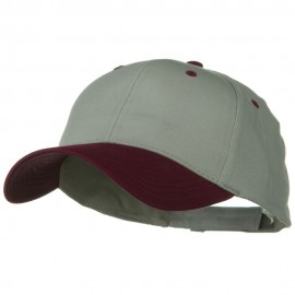 Two Tone Cotton Twill Low Profile Strap Cap