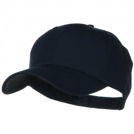 Solid Cotton Twill Low Profile Strap Caps - Navy