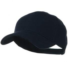 Comfy Cotton Pique Knit Low Profile Cap - Navy