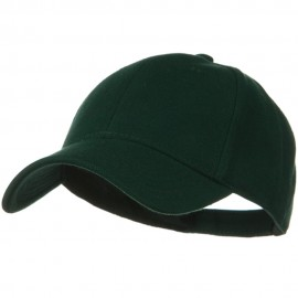 Comfy Cotton Pique Knit Low Profile Cap - Dark Green