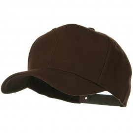 Solid Wool Blend Prostyle Snapback Cap - Brown