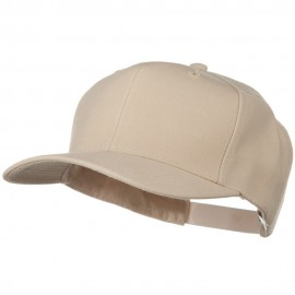 Solid Wool Blend Prostyle Snapback Cap - Tan