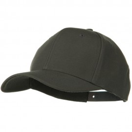Solid Wool Blend Prostyle Snapback Cap - Charcoal