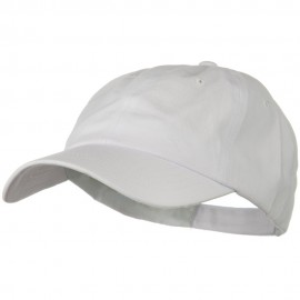 Solid Brushed Cotton Twill Low Profile Cap - White