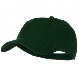 Solid Brushed Cotton Twill Low Profile Cap - Dark Green