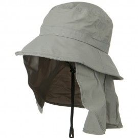 UV 50+ Talson Removable Flap UV Bucket Hat - Grey