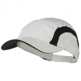 Cool Mesh Runner's Two Tone Cap - White Black