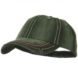 Low Profile Heavy Wash New Herringbone Distressed Cap - Olive