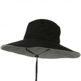 UPF 50+ Wide Brim Talson Bucket Hat - Black