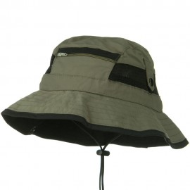 UV 50+ Side Snap Talson Sun Bucket Hat - Olive