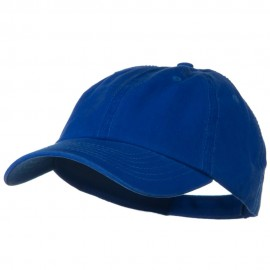 Deluxe Garment Washed Cotton Twill Cap - Royal