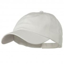 Deluxe Garment Washed Cotton Twill Cap - White