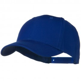 Solid Cotton Twill Low Profile Snap Cap - Royal