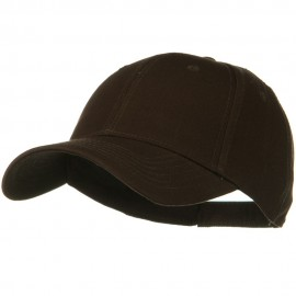 Superior Cotton Twill Low Profile Strap Cap - Dark Brown