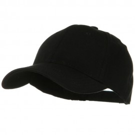 Comfy Cotton Jersey Knit Low Profile Strap Cap - Black