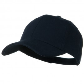 Comfy Cotton Jersey Knit Low Profile Strap Cap - Navy