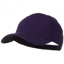 Comfy Cotton Jersey Knit Low Profile Strap Cap - Purple