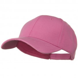 Comfy Cotton Jersey Knit Low Profile Strap Cap - Azalea