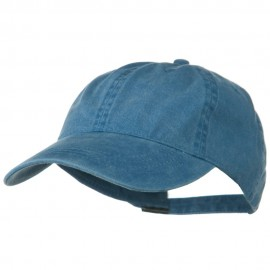 Washed Solid Pigment Dyed Cotton Twill Brass Buckle Cap - Sky Blue