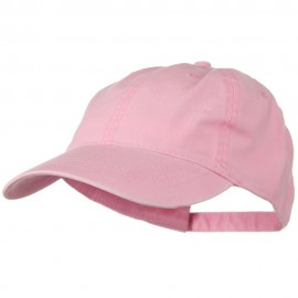 Washed Solid Pigment Dyed Cotton Twill Brass Buckle Cap - Pink
