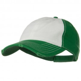 Superior Garment Washed Cotton Twill Frayed Visor Cap