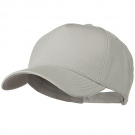 Comfy Cotton Jersey Knit 5 Panel Cap - Silver