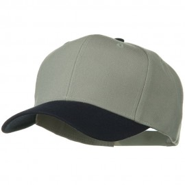 Two Tone Wool Blend Prostyle Snapback Cap - Navy Grey