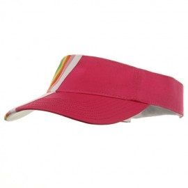 Rainbow Cotton Twill Visor