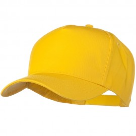 Solid Cotton Twill 5 Panel Prostyle Snap Cap - Yellow