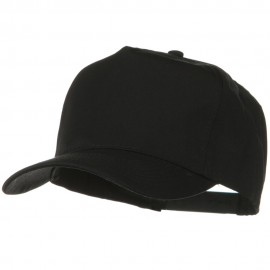 Solid Cotton Twill Pro style Golf Cap - Black