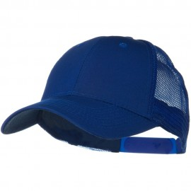 Solid Cotton Twill Low Profile Nylon Mesh Back Cap - Royal