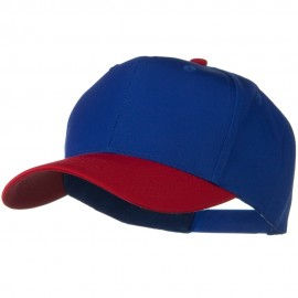 Two Tone Cotton Twill Pro Style Cap - Red Royal