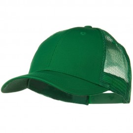Solid Cotton Twill Low Profile Nylon Mesh Back Cap - Kelly