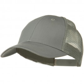 Solid Cotton Twill Low Profile Nylon Mesh Back Cap - Grey