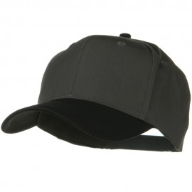 Two Tone Cotton Twill Pro Style Cap - Black Charcoal