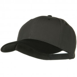 Two Tone Cotton Twill Low Profile Snap Cap - Black Charcoal