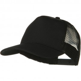 Solid Cotton Twil 5 panel Mesh Back Cap