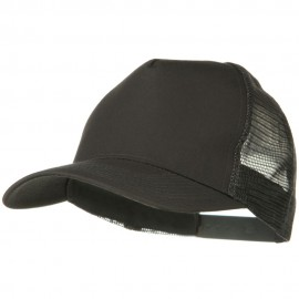 Solid Cotton Twill 5 panel Mesh Back Cap - Charcoal Grey