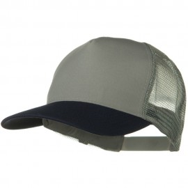 Two Tone Cotton Twill 5 panel Mesh Back Cap - Navy Grey