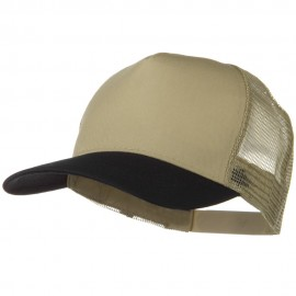 Two Tone Cotton Twill 5 panel Mesh Back Cap