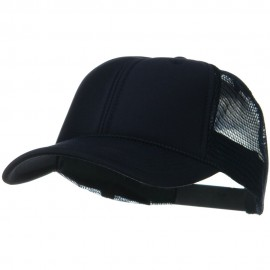 Solid Polyester Foam Front Mesh Back Cap - Navy