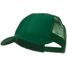 Solid Polyester Foam Front Mesh Back Cap - Kelly