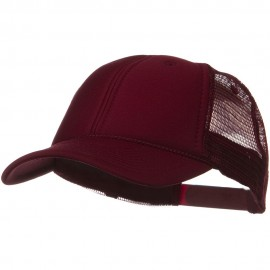 Solid Polyester Foam Front Mesh Back Cap