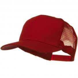 Solid Cotton Twill Mesh Prostyle Cap - Red