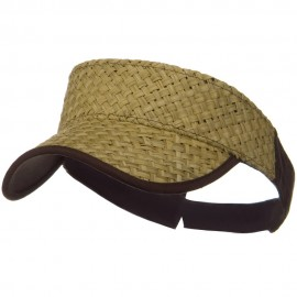 Straw Trucker Visor - Natural