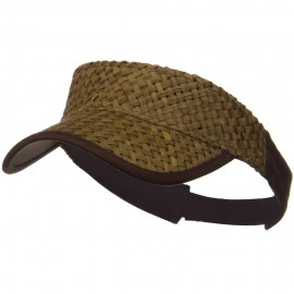 Straw Trucker Visor - Brown