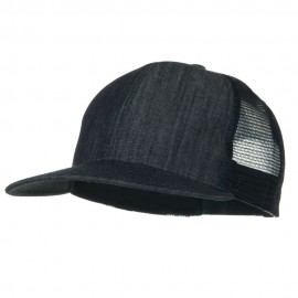 Flat Bill Snap Back Mesh Cap