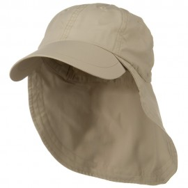 Supplex Long Bill Neck Cap - Khaki