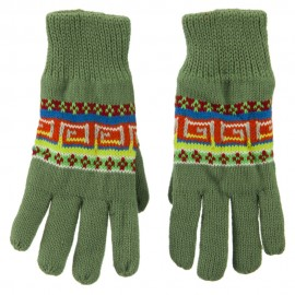 Acrylic Aztec Design Gloves