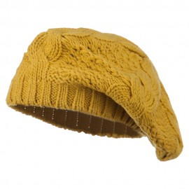 Acrylic Cable Knit Beret